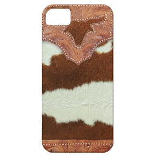 Cowboy Leather and Cowhide Case For The iPhone 5