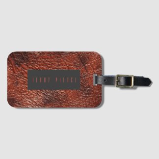 Cowboy Leather Look Luggage Tag