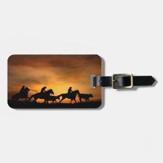 Cowboy Luggage Tags