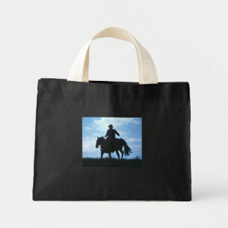 cowboy mini tote bag