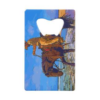 Cowboy Mounted Credit Card Bottle Opener