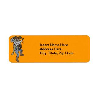 Cowboy Mouse Return Address Label