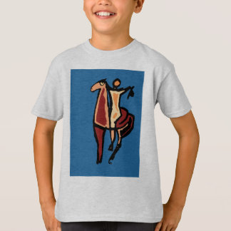 Cowboy on Horse Abstract  Cubism T-Shirt