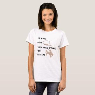 Cowboy or Cowgirl Rodeo Rope n Ride'em Tshirt
