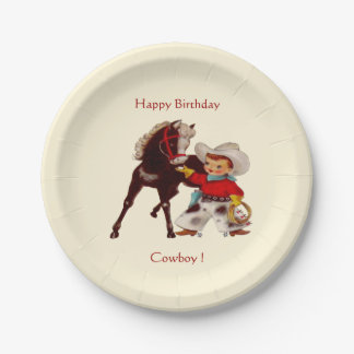 Cowboy Party Paper Plate