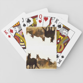 cowboy playing cards