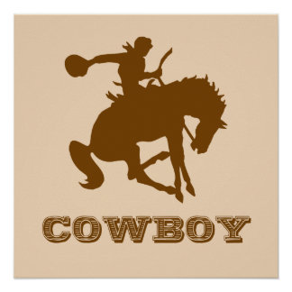 Cowboy Poster - Change the Colors!