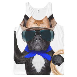 cowboy pug - dog cowboy All-Over-Print tank top