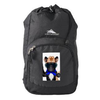 cowboy pug - dog cowboy backpack