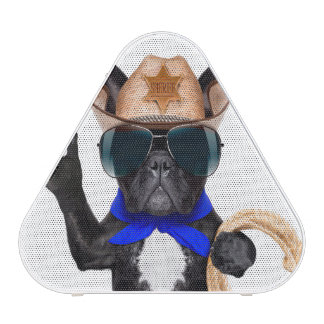 cowboy pug - dog cowboy blueooth speaker