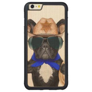 cowboy pug - dog cowboy carved maple iPhone 6 plus bumper case