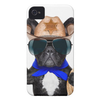 cowboy pug - dog cowboy Case-Mate iPhone 4 cases
