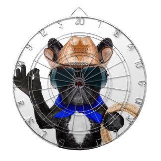 cowboy pug - dog cowboy dartboard