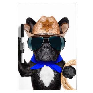 cowboy pug - dog cowboy Dry-Erase boards