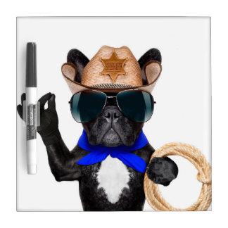 cowboy pug - dog cowboy Dry-Erase whiteboards