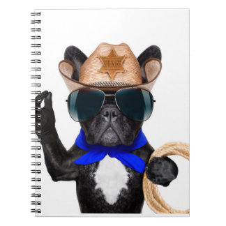 cowboy pug - dog cowboy notebooks