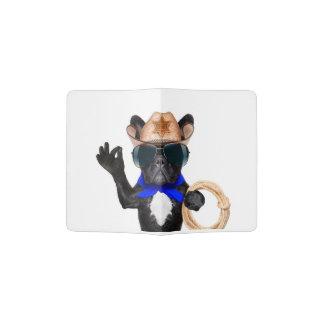 cowboy pug - dog cowboy passport holder