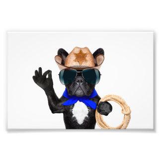 cowboy pug - dog cowboy photo print