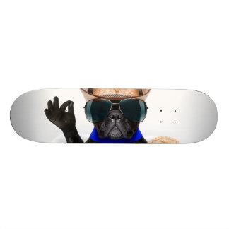 cowboy pug - dog cowboy skateboard deck