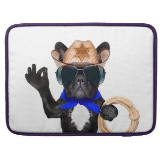 cowboy pug - dog cowboy sleeve for MacBooks