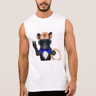 cowboy pug - dog cowboy sleeveless shirt