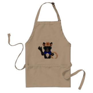 cowboy pug - dog cowboy standard apron