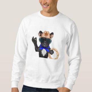 cowboy pug - dog cowboy sweatshirt