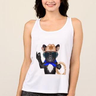 cowboy pug - dog cowboy tank top
