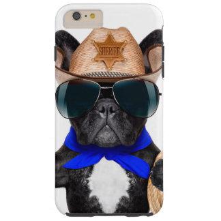 cowboy pug - dog cowboy tough iPhone 6 plus case