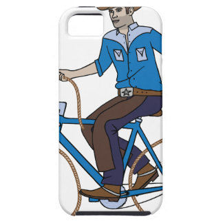 Cowboy Riding Bike With Lasso Wheels Case For The iPhone 5