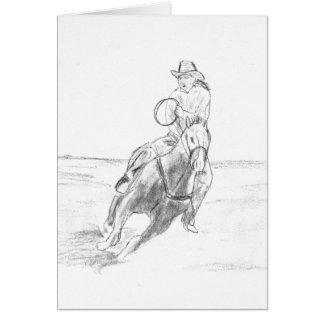 Cowboy Riding Card