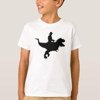 Cowboy Riding T-Rex KIds T-shirt