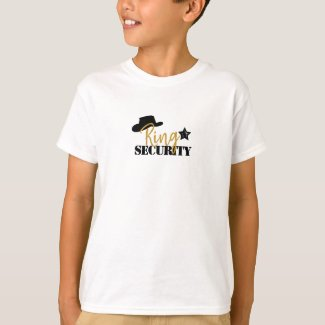 Cowboy ring security t shirt