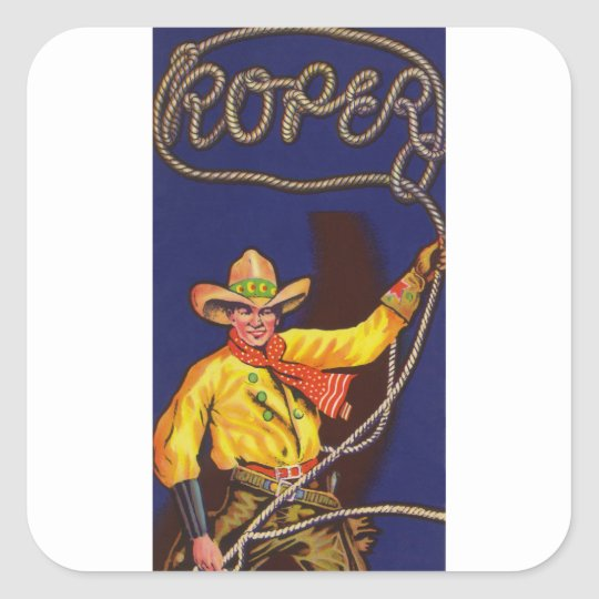Cowboy Roper Stickers