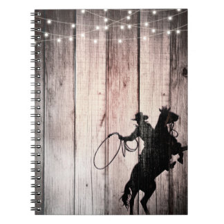 Cowboy Rustic Wood Barn Country Wild West Notebooks