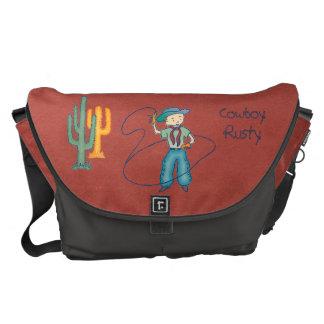 Cowboy Rusty Rodeo Lasso Tricks large Messenger Bag