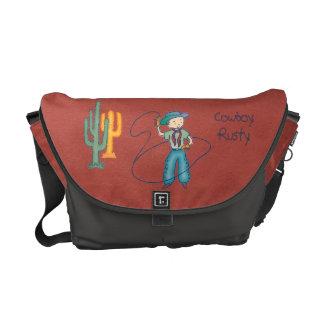 Cowboy Rusty Rodeo Lasso Tricks medium Commuter Bag