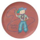 Cowboy Rusty Rodeo Plate