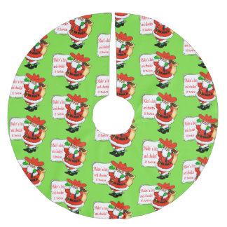 Cowboy Santa Makin' A List Brushed Polyester Tree Skirt