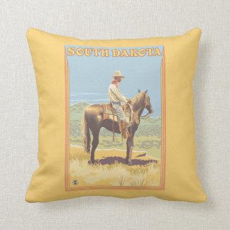 Cowboy (Side View)South Dakota Throw Pillow