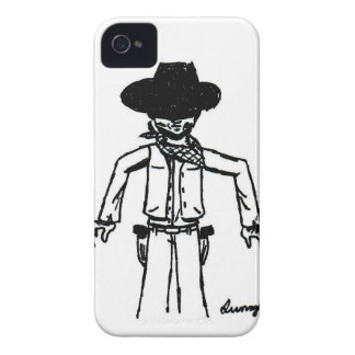 Cowboy Sketch iPhone 4 Barely There Case
