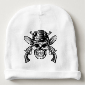 Cowboy Skull and Pistols Baby Beanie