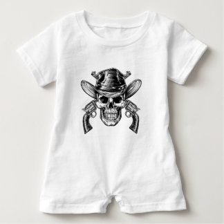Cowboy Skull and Pistols Baby Romper
