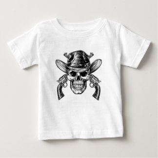 Cowboy Skull and Pistols Baby T-Shirt