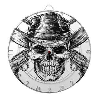 Cowboy Skull and Pistols Dartboard