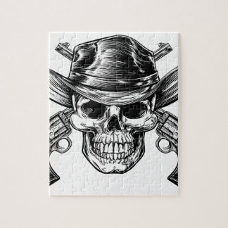 Cowboy Skull and Pistols Jigsaw Puzzle