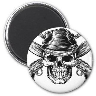 Cowboy Skull and Pistols Magnet