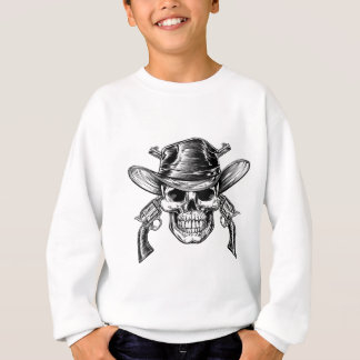 Cowboy Skull and Pistols Sweatshirt