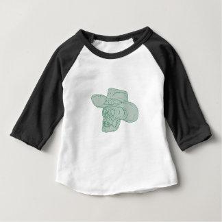 Cowboy Skull Drawing Baby T-Shirt