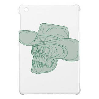 Cowboy Skull Drawing Case For The iPad Mini